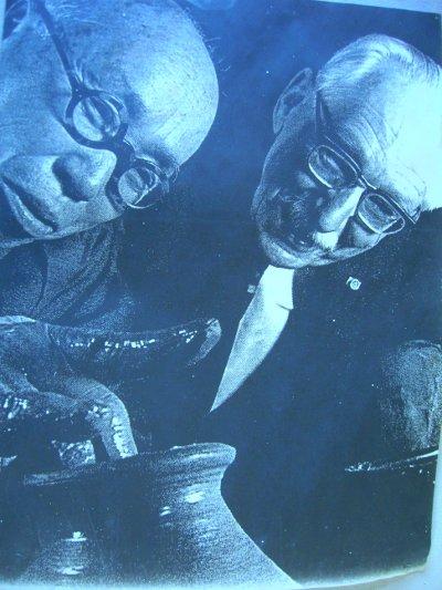 Shoji Hamada and Bernard Leach