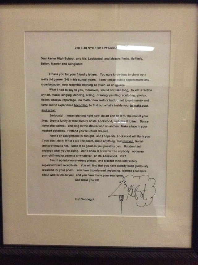 kurt-vonnegut-letter-to-students-xavier-high-school
