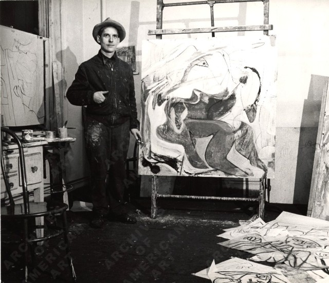 Willem de Kooning tramples his art to make more art, What would the knollers say?!