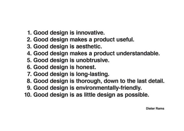 This is what 'good design' thinks of itself.