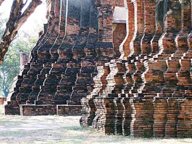 Twelfth-century temple brickwork, Ayutthaya, Thailand