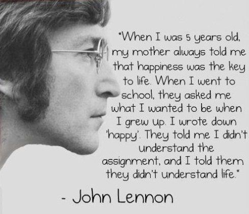 lennon on life and happiness